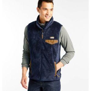 NWT L.L bean high pile fleece vest gray large